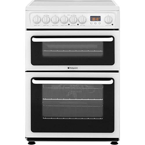 Hotpoint Newstyle HAE60KS Electric Cooker with Ceramic Hob - Black - B/B Rated