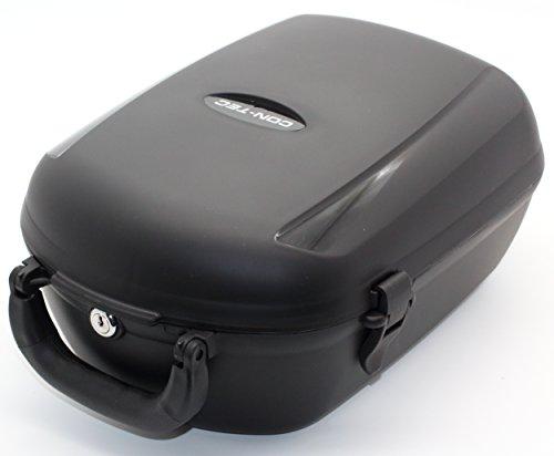 CONTEC Unisex– Erwachsene Cargo Plus Fahrradbox, schwarz, 13 Liter