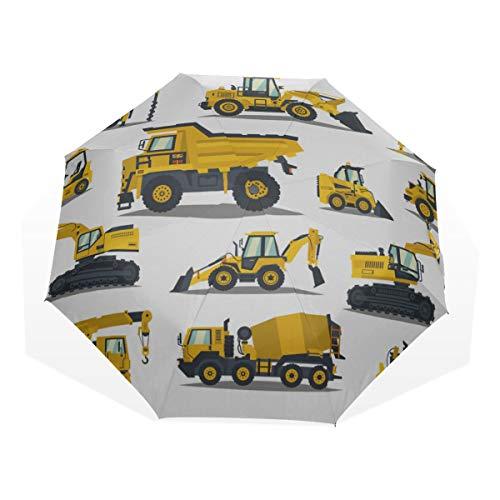 Paraguas de Viaje Carretilla elevadora, grúa, Excavadora, Tractor, Excavadora, camioneta Anti Ultravioleta...