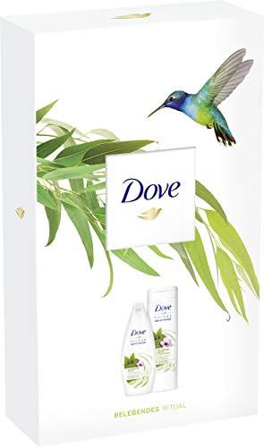 Dove Geschenkset, ideal zum Verschenken Belebendes Ritual (Matcha und Kirschblütenduft Pflegedusche 250 ml + Body Lotion 400ml) 1er Pack