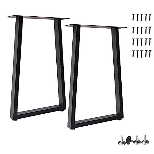 Yahpetes - 2 patas de mesa de metal para muebles de 71 x 18 pulgadas, patas de banco de hierro fundido negro, patas de mesa de comedor...