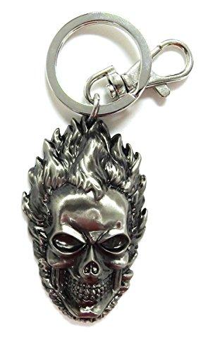 Marvel Ghost Rider Head Pewter Key Ring