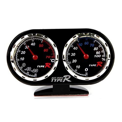 Jinclonder Auto-dashboard, hygrometer, thermometer, klein, gevoelig, gemakkelijk te dragen, meetbare temperatuur: -20 70 tot 70 °C, slaapkamer, woonkamer, enz.