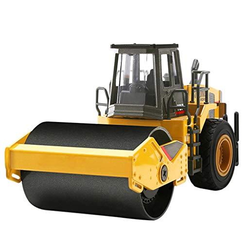 PBTRM Modelo Rodillo Camino Compresor Aleación 1/40 Modelo, Vehículo Compactador Coche Construcción Volquete Juguetes Metal para Niños