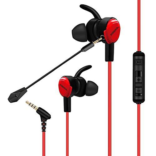 LIMTT oortelefoons, in-ear Surround Sound hoofdtelefoon met gedemonteerde microfoon en volumeregeling, voor telefoon, IPod, MP3-spelers