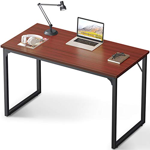 Coleshome Computer Desk 39', Modern Simple Style Desk for Home Office, Sturdy Writing Desk,Teak