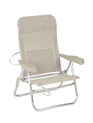Crespo AL/205-M-34 - Silla Playa Dural. Desmontable. (Multifibra), Color Beige