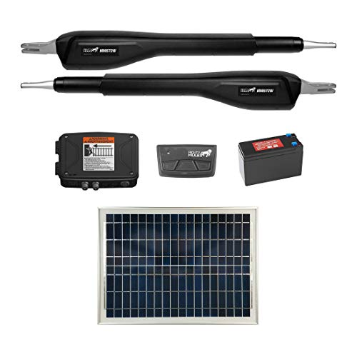 Mighty Mule MM572W Solar Package - Heavy Duty Dual Smart Gate Opener (20 Watt Solar Panel)