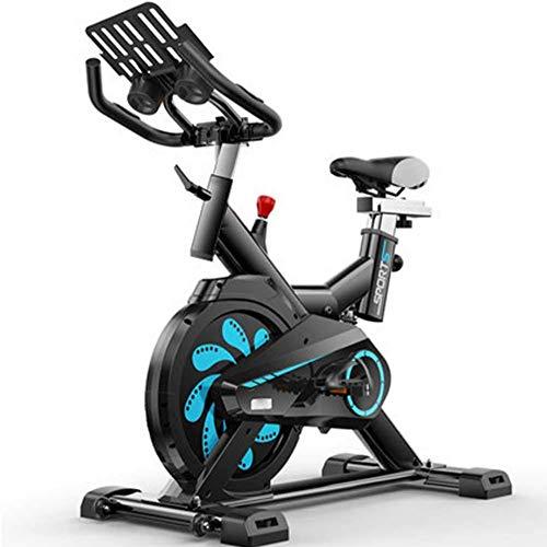YLJYJ Bicicletas magnéticas estáticas estacionarias, con correa de conducción interior para ciclismo con alta capacidad de peso, resistencia magnética ajustable, monitor LCD