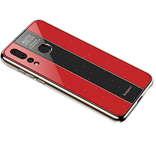 Nniter - Carcasa rígida para Huawei Nova 4 (policarbonato, lámina trasera de policarbonato + plexiglás 3D con suave TPU) iPhone 5s rojo