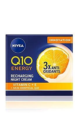 NIVEA Q10 Energy Recharging Face Night Cream (50 ml), Energising Night Cream for Women, Hydrating Night Face Cream, Recharging Face Cream with Vitamin C and Q10 from Beiersdorf
