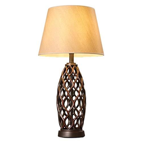 Mesita de luz de la lámpara lámpara de mesa elegante en la Sala de Estudio dormitorio de noche Lámpara de tela Lámpara de mesa interruptor de botón de dos fuentes de luz son opcionales dormitorio de l