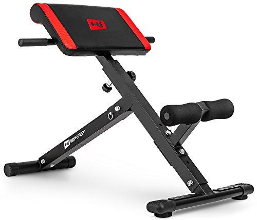 Hop-Sport Rückentrainer Hyperextension 45° Bauchtrainer HS-1016 klappbares Fitnessgerät für Zuhause