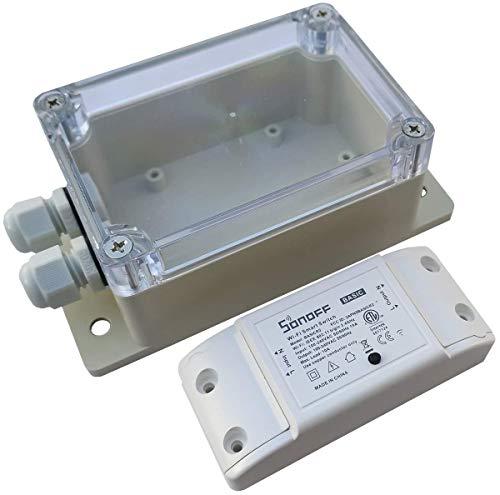 Sonoff Basic R2 y carcasa de protección IP66.