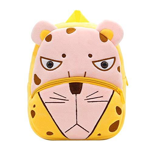 Haioo Mochila Infantil para Niños con Figuras de Animales Bonitos Mochilas Escolares para Niños 2-4 Años (Leopardo)