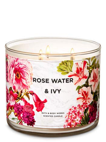 Rose Water & Ivy 3-Wick Candle 14.5 oz