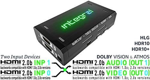 HDFury Integral 2 - Extractor de Audio HDMI 4 K HDR. Soporte de Dos Fuentes de Entrada