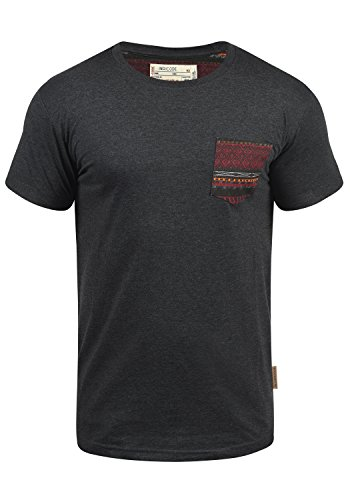 Indicode Paxton T-Shirt, Größe:M, Farbe:Charcoal Mix (915)