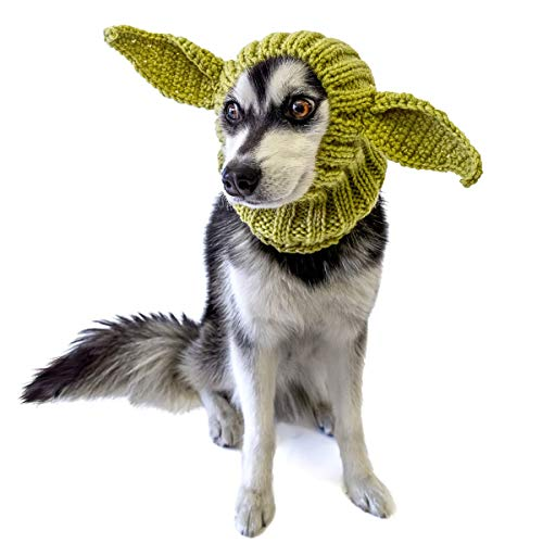 Zoo Snoods Baby Alien Dog Costume – Neck and Ear Warmer Hood for Pets (Medium)