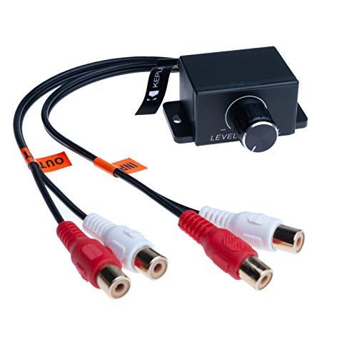 Amplificatore universale per auto audio basso RCA di controllo del volume a distanza | Compatibile con Audi BMW Fiat Ford Honda Hyundai Mazda Mini Mitsubichi Nissan Scion Smart Subaru Toyota Volvo VW