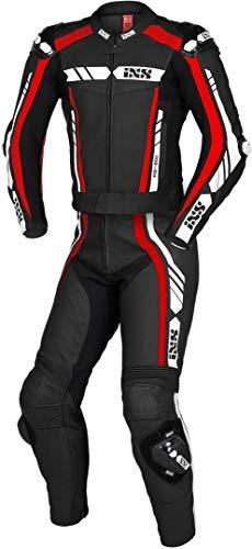 IXS Sport RS-800 1.0 2-Teiler Motorrad Lederkombi Schwarz/Rot/Weiß 56