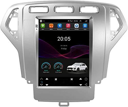 GPS Navigation Head Unit Sat Nav AUD Audio Player MP5 FM Radio Receptor Coche Estéreo De 9 Pulgadas Táctil Android 10.0 Compatible para Ford Mondeo Wins,4 Core WiFi 1+16GB
