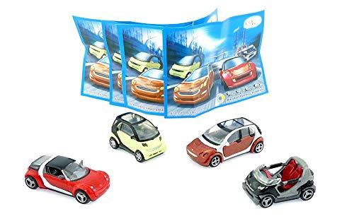 Kinder Überraschung 1 juego de modelos Smart de 2005 con 4 folletos (idioma español no garantizado).
