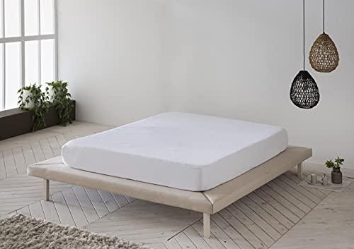 Protector de colchón, Cubre colchón de Rizo Suave, Impermeable, antiácaros 90x190/200 - Cama 90 (Todas Las Medidas)
