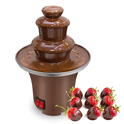 Chocolate Fountain Machine Electirc Chocolate Fondue Set Stainless Steel Fondue Heat Motor Controls