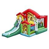 BTTNW TO Castillo Hinchable para niños Castillo Hinchable Inflable Saltar y deslice la Gorila Teatro al Aire Libre o de Interior Inflable casa de la Despedida