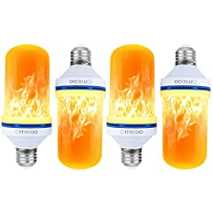 💡MORE REALISTIC FLAME EFFECT- We are so excited because It is more realistic than any other flame bulb on the market. This flame fire effect LED bulb is the perfect alternative to a traditional candle. Create a more realistic flame burning effect wit...