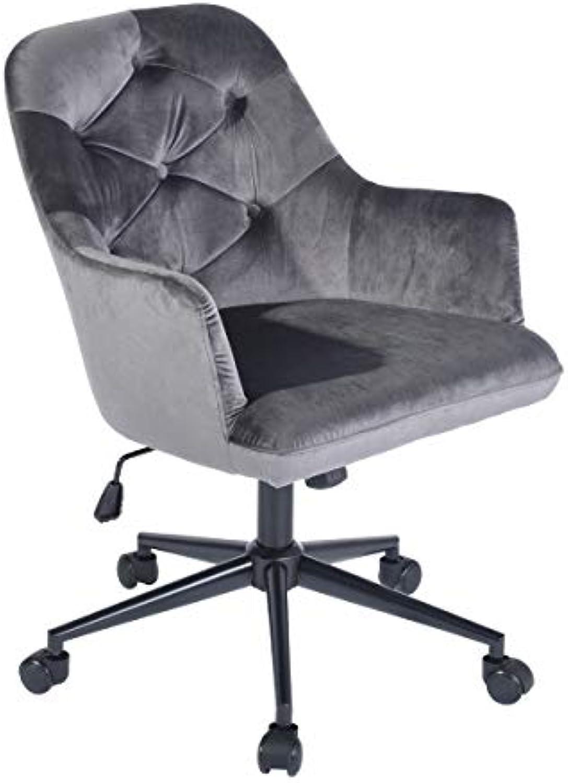 Mid-Back Home Office Task Chair, Grey Velvet