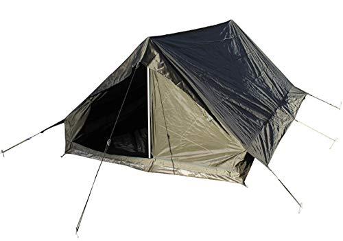 Französiches Zweimannzelt Zelt mit Boden Farbe: Oliv Armeezelt Militärzelt Maße: 210 x 142 x 100 cm