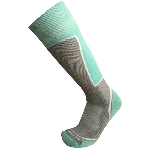 Ultimate Socks Womens Midweight Merino Wool Ski Snowboard Warm Socks Aqua Medium 7-9.5