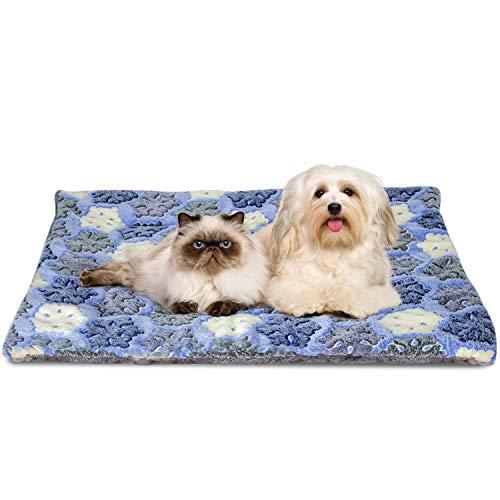 Nobleza Cama para Perros, colchoneta para Mascotas, Pata pequeña impresión paño Grueso y Suave Manta Suave Estera del Animal doméstico, Lavable (S,Azul)