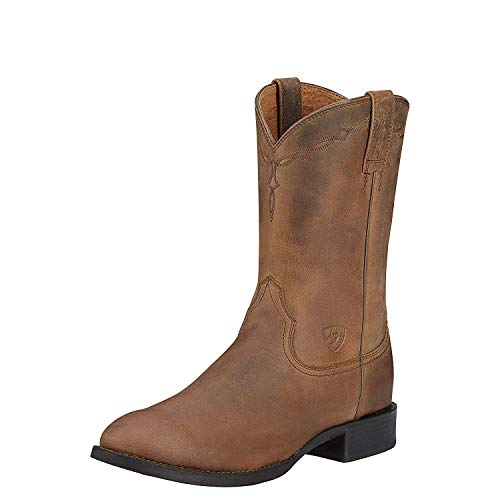 Ariat Men's Heritage Roper Western Cowboy Boot, Distressed Brown, 9.5 D US