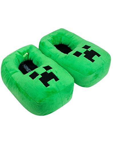 Minecraft Creeper Jungen 3D Grün Hausschuhe (4-5)