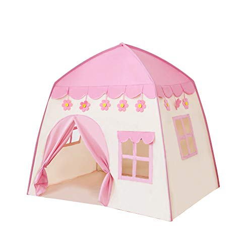 Matedepreso Princess Castle Play Tent for Girls Large Kids Play Tents Kids Teepee Tent Children Playhouse for Children Indoor and Outdoor Games