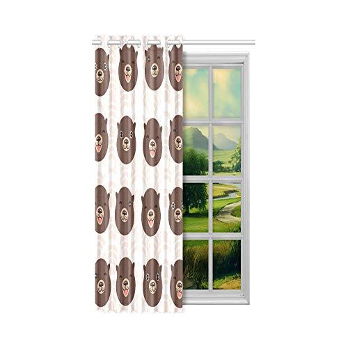 XiexHOME Licht blockierende Fenstervorhänge Niedlicher Seeotter spielt im Wasserbett Verdunkelungsvorhänge 132 x 160 cm (52 x 63 Zoll) 1-Panel-Verdunkelungsvorhang für Schlafzimmer Wohnzimmer