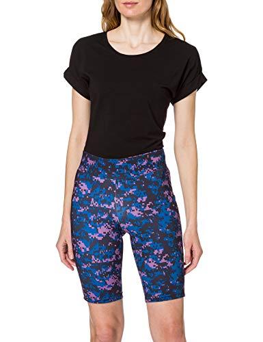 Urban Classics Ladies High Waist Tech Cycle Shorts Pantaloncini da Yoga, Camo Digitale Violetto, S Donna