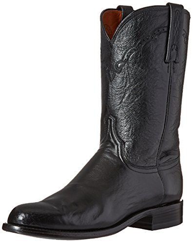 Lucchese Bootmaker Men's Lawrence-blk Lonestar Calf Roper Riding Boot, Black, 10.5 D US