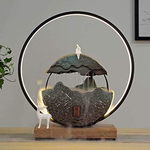 A-Generic Fontana da tavolino Della Decorazione da tavolino di Stile Cinese Con la Decorazione Ceramica Dell ufficio del Salone Della Lampada-A