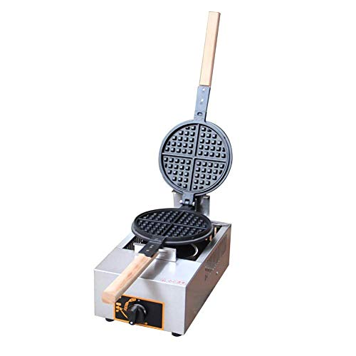 SEESEE.U Waffeleisen Gewerblicher Gaswaffeleisen Maschine mit Zeit- und Temperaturregelung Geeignet für Familienrestaurants Bäckereien Snackbar Waffeleisen abnehmbare Teller