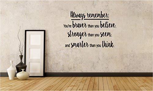 Online Design Immer Remember. Vinyl Wandkunst Zitat Inspiriert ( Brave, Starkes)