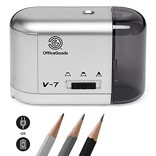 Electric Pencil Sharpener - Compact & Portable Heavy Duty for Colored Pencils, Artists, Office, School & Home - Battery & Electric...