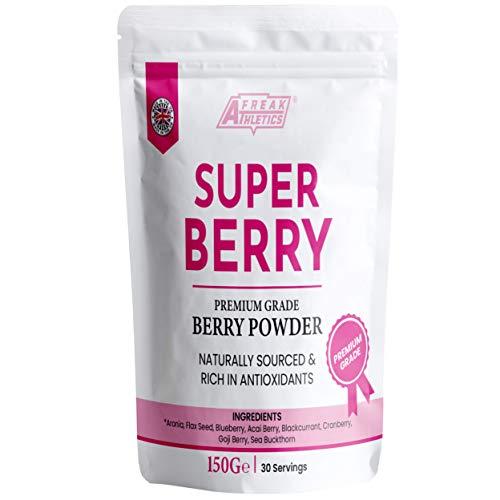 Super Berry Powder 150g | Vegan Friendly Detox Superfood Berry Smoothie | High in Antioxidants 8 Premium Ingredients UK Made