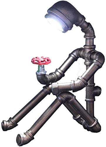 HGDD Lámpara de Piso Lámpara Tubo Retro del Robot de Agua, Protección de los Ojos Creativo Student Bar compartida de la cabecera del Escritorio de la decoración del Regalo de Mesa Luces