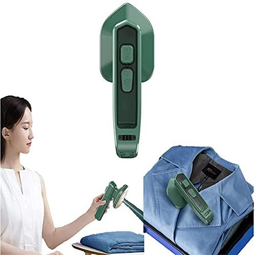 ZDDO Micro Plancha de Vapor Profesional, Plancha de Vapor doméstica de Mano, Mini planchadora portátil Plegable, Adecuado para el hogar y los Viajes Verde Oscuro