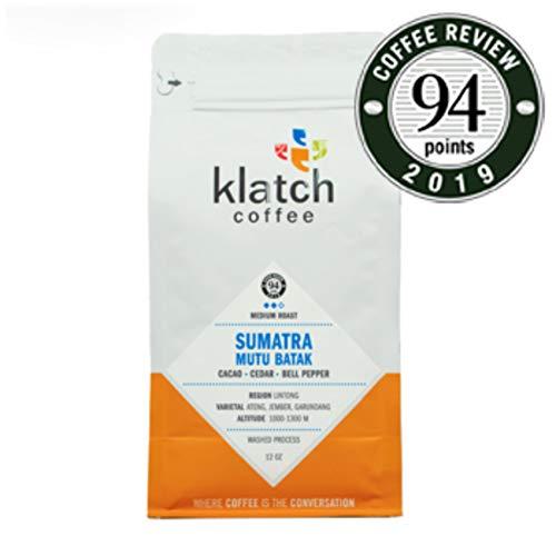 Klatch Coffee 'Sumatra Mutu Batak' Medium Roasted Whole Bean Coffee - 12 Ounce Bag