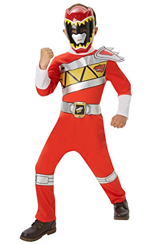 Power Rangers Classic Red Power Ranger (Dino Charge) - Costume Bambini 5-6 Anni